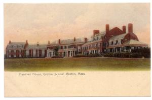 Groton MA Hundred House Rotograph Vintage Postcard