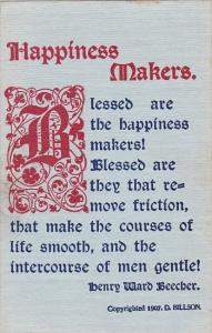 Motto Postcard Happiness Makers Copyright Hillson