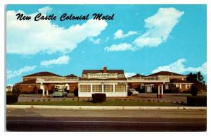 1950s/60s New Castle Colonial Motel, Wilmington, DE Postcard