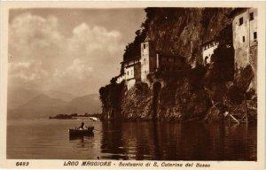 CPA Lago Maggiore Santuario di S.Caterina del Sasso . ITALY (540065)