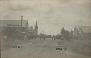 Ward SD Gala Day 1908 Used Real Photo Postcard