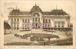 Old Postcard Trouville Casino Main Entree