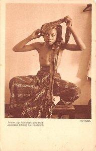 Javanese binding his headcloth Indonesia, Republik Indonesia Unused