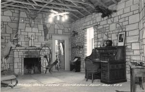Inspiration Point Arkansas~Castle Trophy Room~Big Buck~Rolltop Desk~1950s RPPC