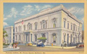 Maryland Baltimore Peabody Institute Mt Vernon Square