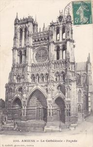 AMIENS, Somme, France, 1900-1910's; La Cathedrale, Facade