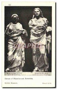 Postcard Ancient statues of Mausolus and Artemisia British Museum British Mus...