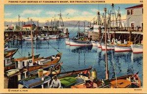 California San Francisco Fishing Fleet Berthed At Fisherman's Wharf