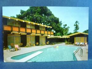 Postcard CA Menlo Park Red Cottage Motel  Vintage