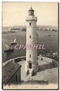 Old Postcard Lighthouse This Saint Louis