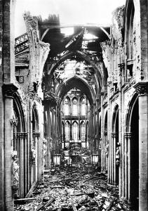 Der St. Viktorsdom zu Xanten Nach der Zerstorung im 2 Weltkrieg Cathedral Ruins