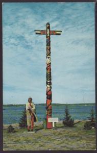 Indian Totem Pole,MI Postcard BIN