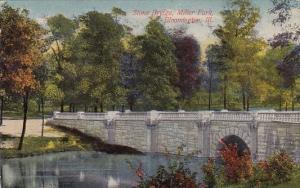 Stone Bridge Miller Park Bloomington Illinois 1911