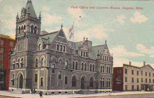 Ohio Dayton Post Office And Custom House 1911