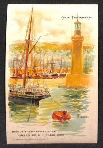 Grand Prix Paris 1900 Lighthouse Transparency Postcard