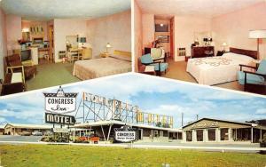 Harrisburg Pennsylvania~Congress Inn Hotel (Formerly Home Ranch Motel)~1950s Pc