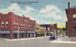 Ohio East Palatine Portion Of Market Street Business Section Curteich
