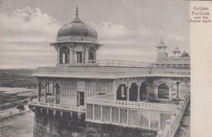 Golden Pavillion Near Jumna Agra India Antique Postcard