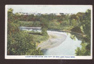 RED LAKE FALLS MINNESOTA CLEAR WATER RIVER VINTAGE POSTCARD BOULDER COLO.
