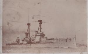 HMS Bellero Napoleon Ship Antique Real Photo Postcard