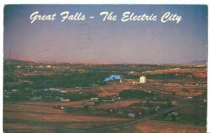 Great Falls, The Electric City, Montana, 1965 used Postcard