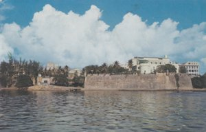SAN JUAN PR -  Old Wall which surrounds the city and the Governors Palace, 1960s