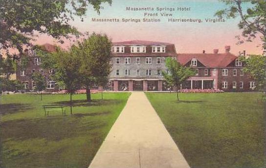 Virginia Harrisonburg Massanetta Springs Hotel Front View Massanetta Springs ...