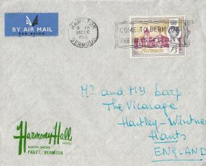 Harmony Hall Hotel Bermuda 1965 Envelope Official Cover