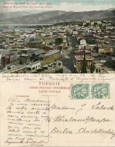 ottoman lebanon, BEIRUT BEYROUTH, View from American Church (1910s) Postcard