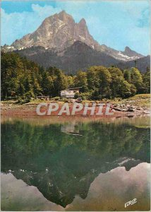Postcard Modern Ossau Valley Pyrenee the Sport Chalet Refuge at Lake Bious Ar...