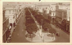 Cuba Habana Paseo de Jose Marti RPPC 02.17