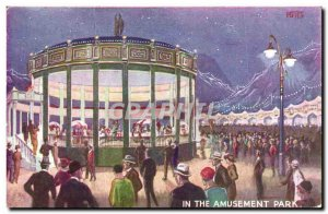 Old Postcard Fete Foraine In the amusement park