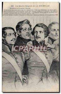 Old Postcard The Four Sergeants of La Rochelle
