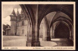 Aile Louis XII,La Salle des Quatre Travees,Le Chateau,Amboise,France  BIN