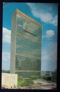 1956 Postcard UN Scott #C2 View Of United Nations Headquarters New York City