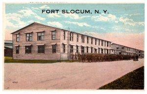 WW 1  New York Fort Slocum  Barracks and Street Scene