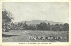 Monadnock Mountain, Hillcrest Lodge East Jaffrey NH Unused
