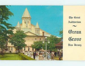 Pre-1980 CHURCH SCENE Ocean Grove New Jersey NJ p4389