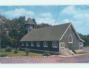 Pre-1980 CHURCH SCENE Canadensis In Barrett Near Skytop & Mount Pocono PA A5741