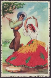 Bolero,Embroidered Postcard