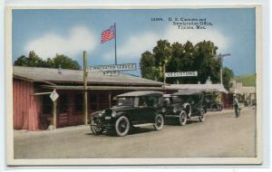 US Customs Immigration Office Cars Tijuana Mexico 1920s postcard