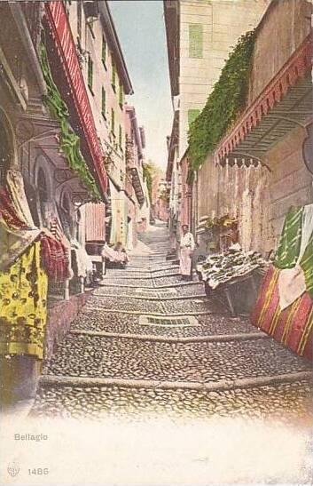 Italy Bellagio Street Scene