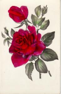 Rose fantasy greetings postcard