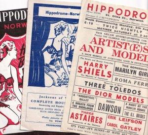Norwich Hippodrome Marilyn Monroe Girls etc 3x Norfolk Theatre Programme s