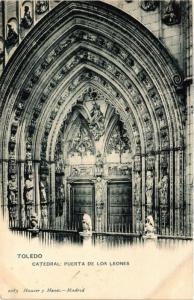 CPA Toledo Catedral, Puerta de Los Leones SPAIN (743812)