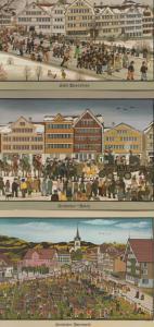 Urnasch Brauchtum Museum 3x Germany Cattle Markets Beer Set Of Postcard s