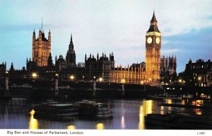 VINTAGE POSTCARD BIG BEN AND HOUSES OF PARLIAMENT, LONDON POSTED MINT CONDITION