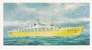Trade Cards Brooke Bond Tea Transport Through The Ages No 26 Modern Ocean Liner