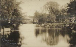 Saugus MA Canal Scene c1910 Real Photo Postcard