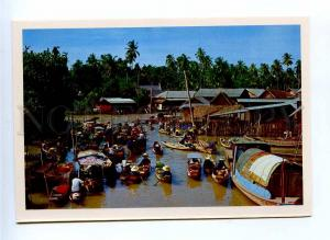 196747 Thailand Floating Market old postcard